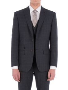 Racing Green Fratton Navy Charcoal Jaspe Check Jacket