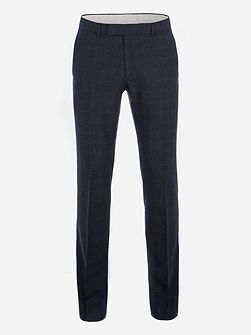 Fratton Navy Charcoal Check Trouser