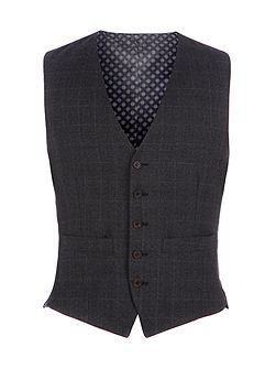 Fratton Navy Charcoal Check Waistcoat
