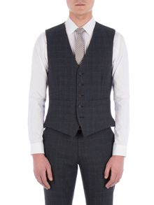 Racing Green Fratton Navy Charcoal Check Waistcoat
