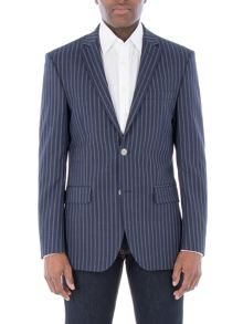 Aston & Gunn Nateby Navy Double Stripe Jacket