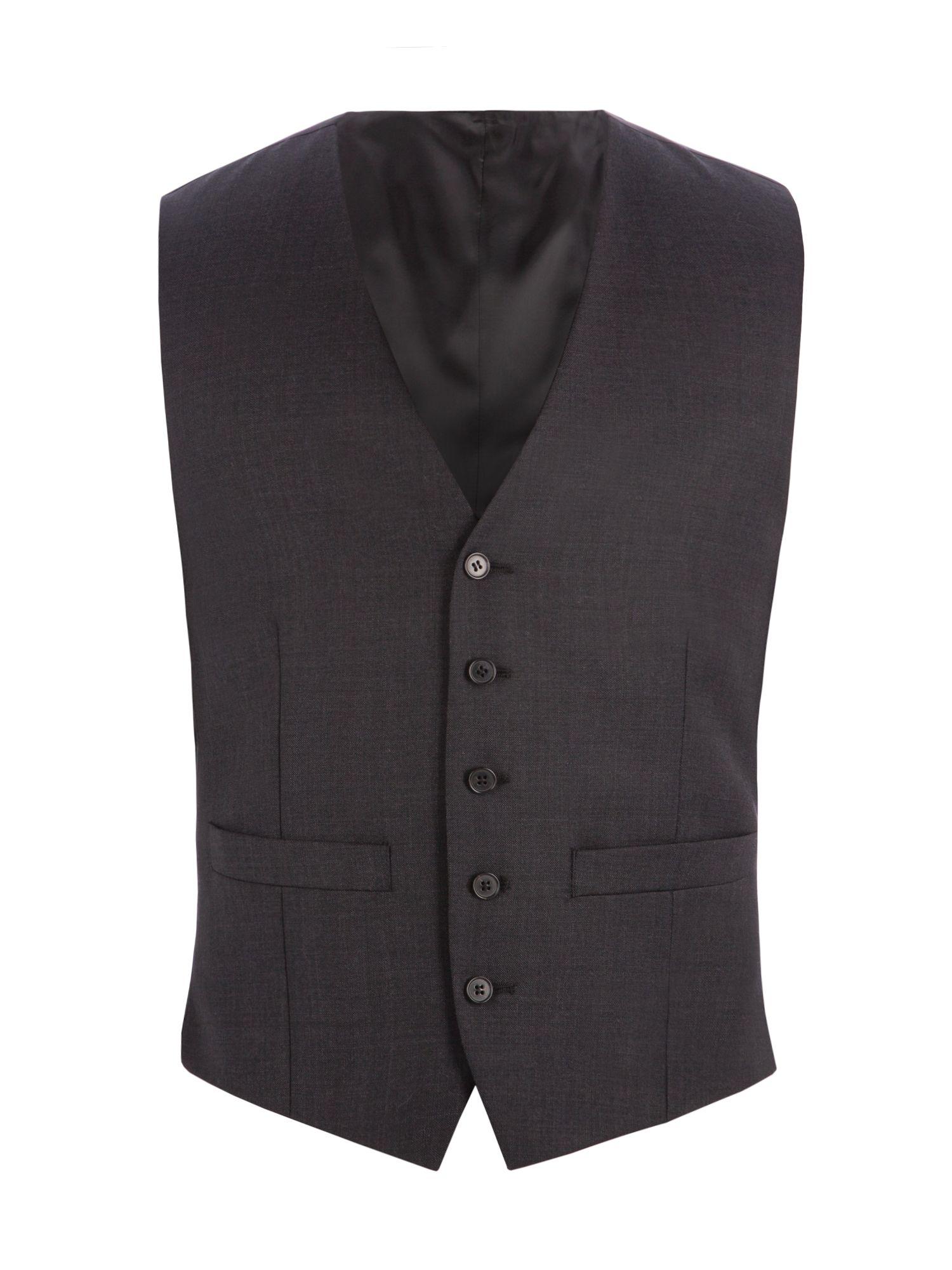 Men's Racing Green Bramley Charcoal Pick & Pick Waistcoat, Charcoal