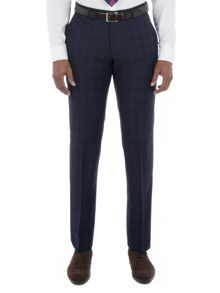 Alexandre of England Walbrook Navy Check Trouser