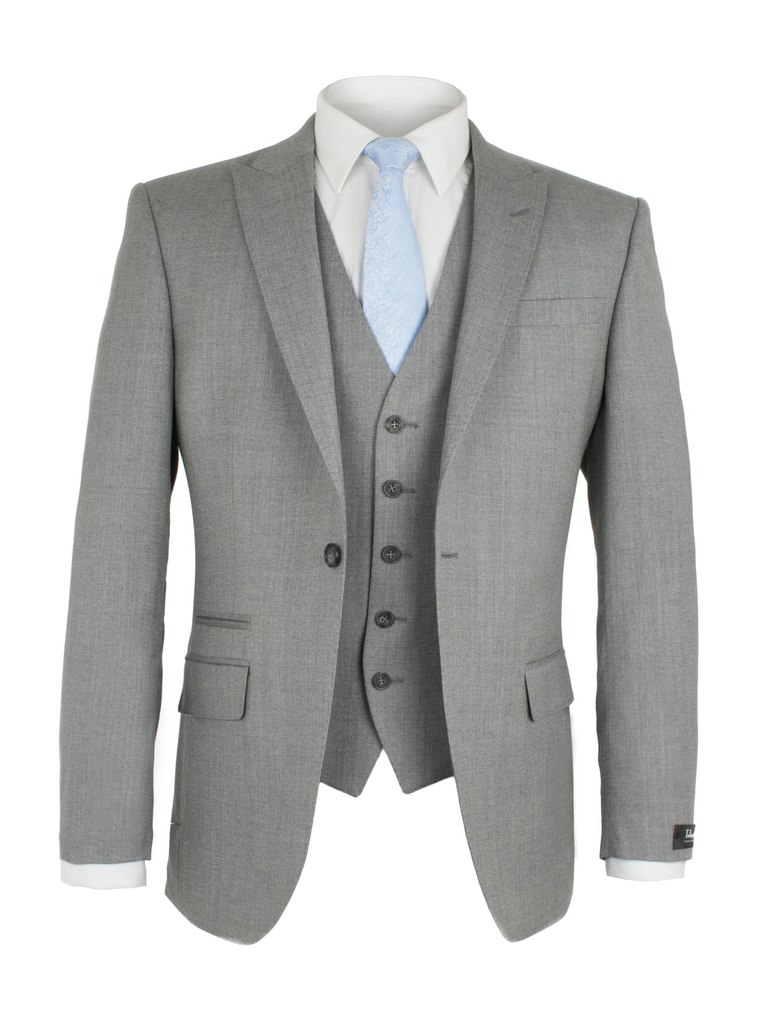 Alexandre of England Men's Alexandre of England Lothbury Grey Crepe Jacket, Grey