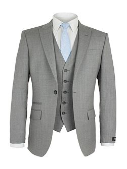 Lothbury Grey Crepe Jacket