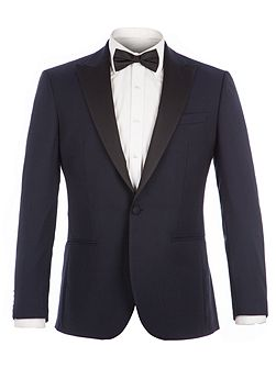 Bouverie Navy Textured Dresswear Jacket
