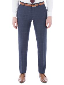Alexandre of England Cornhill Blue Check Trouser