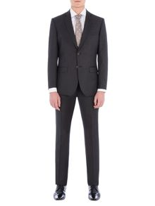 Alexandre of England Rosewood Charcoal Pindot Suit