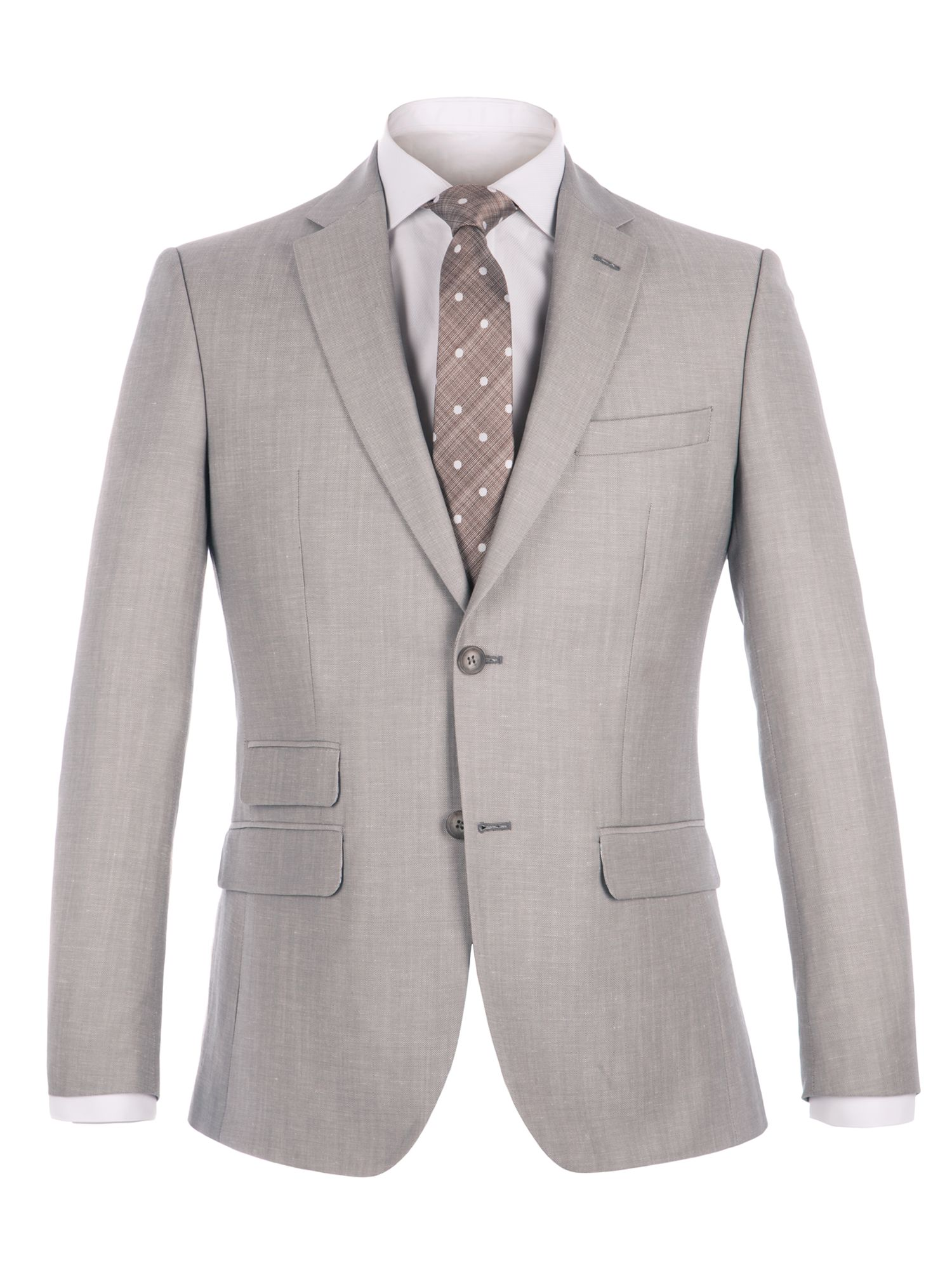 Alexandre of England Men's Alexandre of England Lombard Oatmeal Linen Blend Jacket, Oatmeal