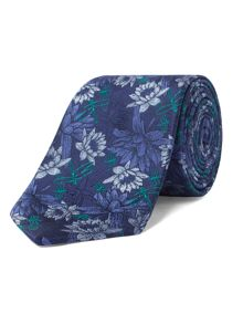 Alexandre of England Ashley Navy Floral Tie