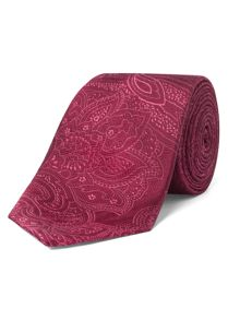 Alexandre of England Calmore Red Paisley Tie