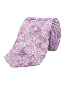 Alexandre of England Crawley Pink Paisley Tie