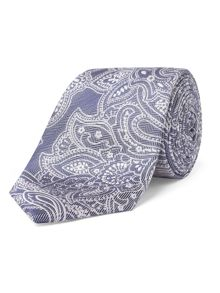 Alexandre of England Deane Grey Paisley Tie