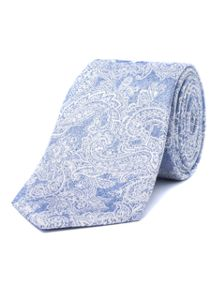 Alexandre of England Fawley Blue Paisley Tie