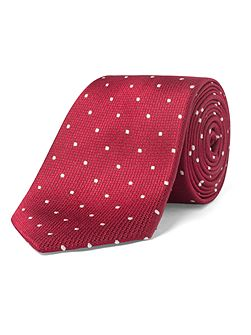 Park Red Polka Dot Tie