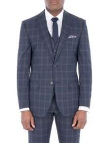 Racing Green Amport Navy Check Suit Jacket