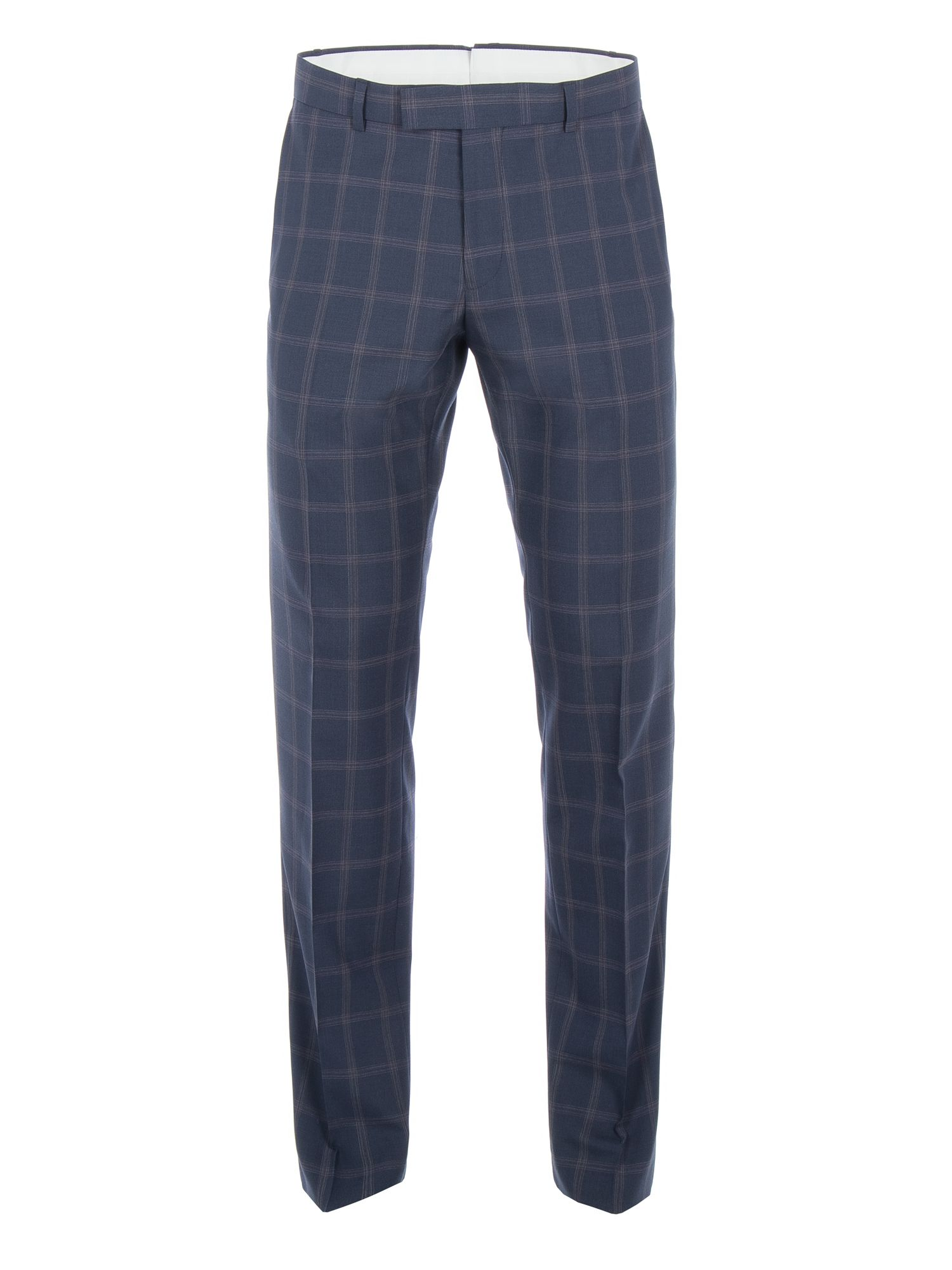 Men's Racing Green Amport Navy Check Suit Trouser, Navy