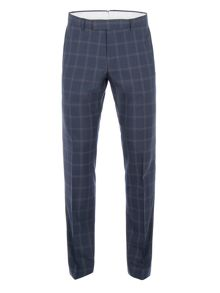 Racing Green Amport Navy Check Suit Trouser