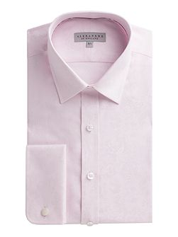 Pink Rose Jacquard Shirt