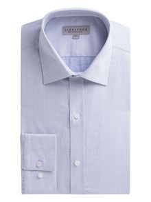 Alexandre of England Blue Jacquard Shirt