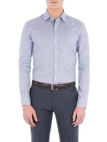 Alexandre of England Navy Jaspe Micro Check Shirt