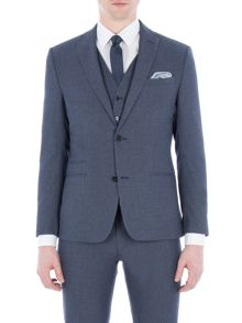 Limehaus Brightwell Blue Jaspe Slim Fit Jacket