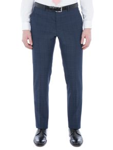 Limehaus Faraday Blue Check Slim Fit Trouser