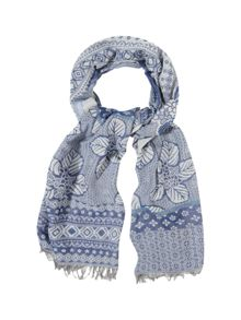 Temple Patched Jacquard Scarf