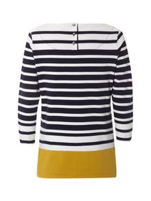 Oxford Stripe Jersey Top