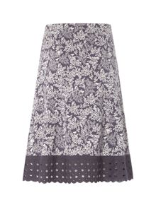 White Stuff Flowerhead Jersey Skirt