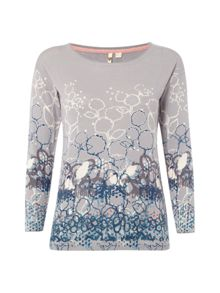 White Stuff Mono Print Jumper