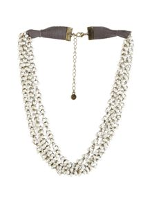 White Stuff Mossy Short Necklace
