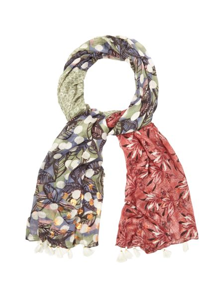 White Stuff St Ives Patchwork Scarf