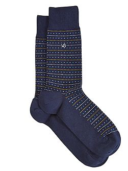 Adam diamond stripe sock