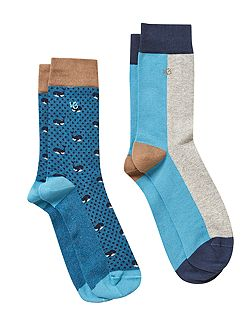 Blue whale 2 pack sock