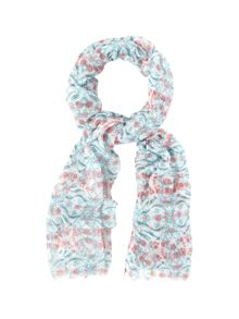 White Stuff Leaping Rabbits Scarf