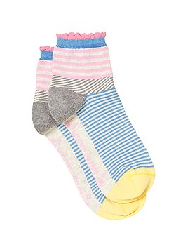Stripe Illusion Ankle Sock