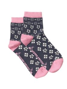 White Stuff Floral Mosaic Ankle Sock