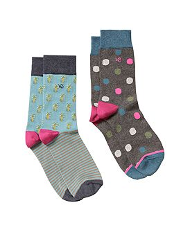 Palm spring 2 pack sock