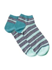 White Stuff Fleck stripe ankle sock