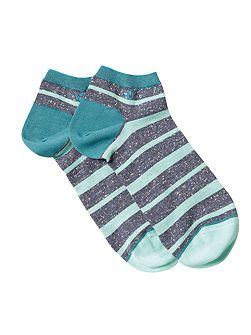 Fleck stripe ankle sock