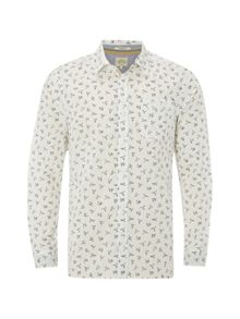 White Stuff Gull print ls shirt