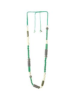 Ting Mixed Bead Long Necklace
