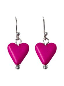 White Stuff Heart Drop Earring