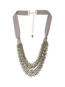 White Stuff Mossy Short Layer Necklace