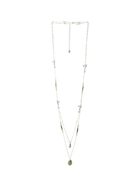White Stuff Dbl Row Nectar Bead Necklace