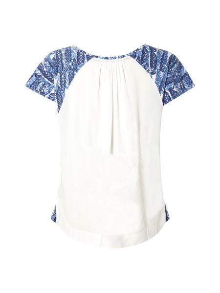 White Stuff Mexican Print Jersey Top