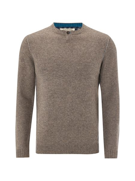 White Stuff Kula notch neck grandad knit