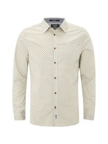 White Stuff Gig Geo Print Long Sleeve Shirt