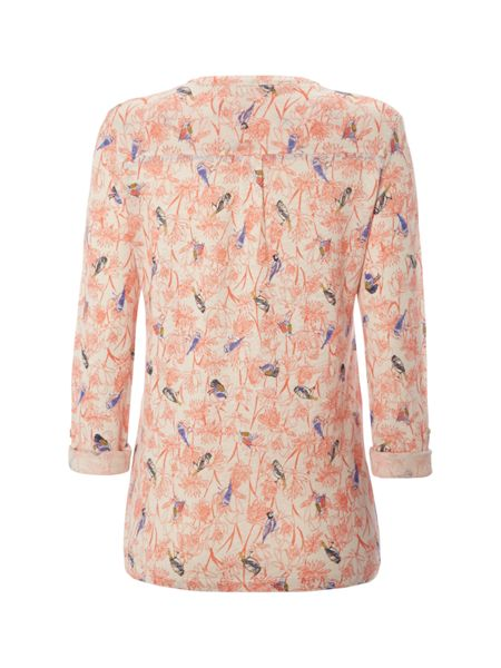 White Stuff Dancing Birds Jersey Shirt
